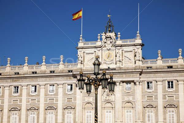 Real Madryt Hiszpania budynku miasta zegar Zdjęcia stock © benkrut