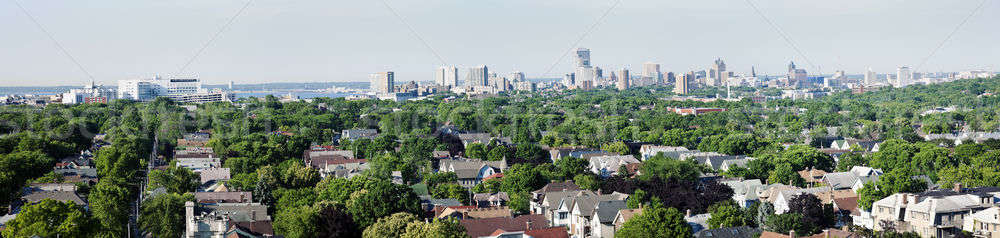 Distant view of downtown Milwuakee Stock photo © benkrut