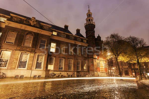 дождливый утра старые город зале юг Сток-фото © benkrut