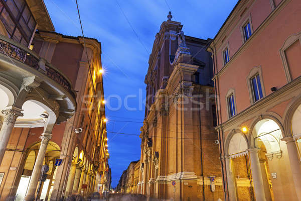 Metropolitan Cathedral di San Pietro in Bologna Stock photo © benkrut