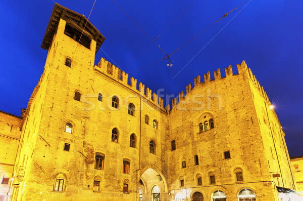 Architecture of Piazza Maggiore in Bologna Stock photo © benkrut