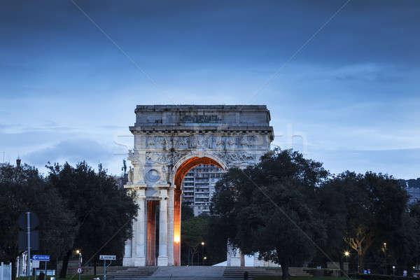 Genoa arch on Piazza della Vittoria  Stock photo © benkrut