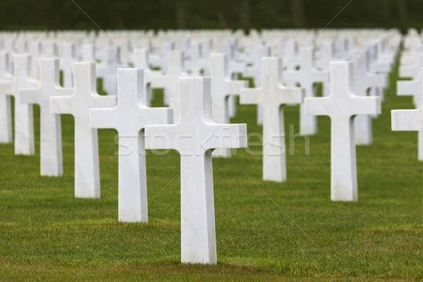Normandia americano cimitero santo Francia erba Foto d'archivio © benkrut