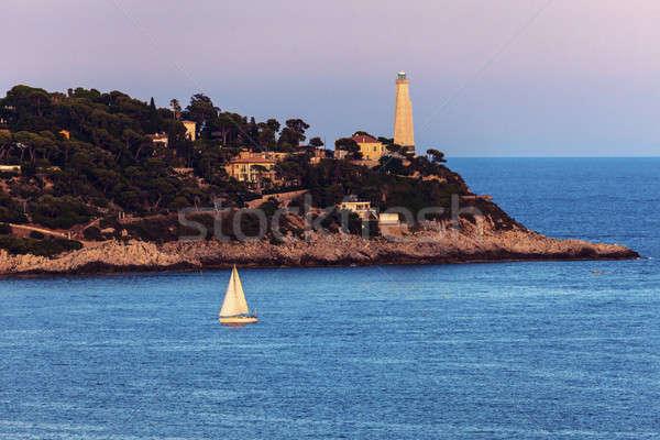Cap Ferrat lighthouse in Saint Jean Cap Ferrat Stock photo © benkrut