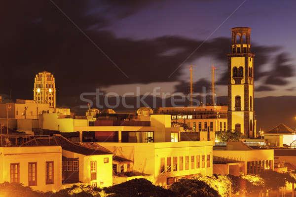 Kilise tenerife İspanya şehir mavi Stok fotoğraf © benkrut