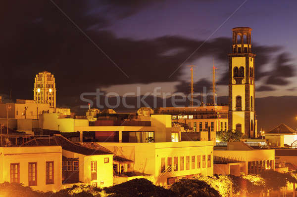 Kerk tenerife Spanje stad Blauw Stockfoto © benkrut