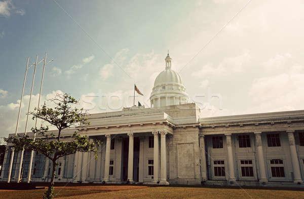 Nieuwe stadhuis Sri Lanka boom reizen Stockfoto © benkrut