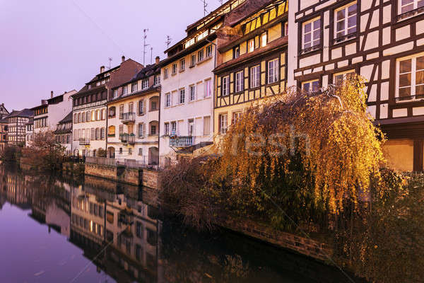 Canals in Strasbourg Stock photo © benkrut