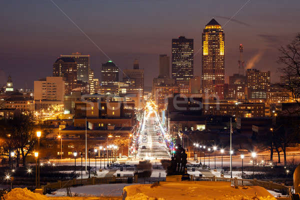 Des Moines skyline Stock photo © benkrut