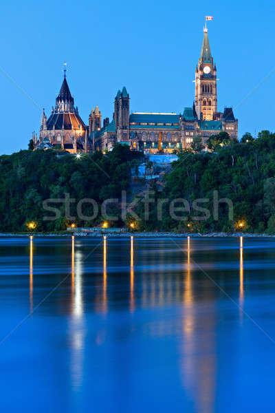 Barış kule parlamento Bina Ottawa ontario Stok fotoğraf © benkrut