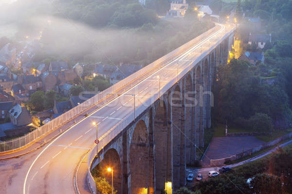 Bridge on Rance River in Dinan Stock photo © benkrut