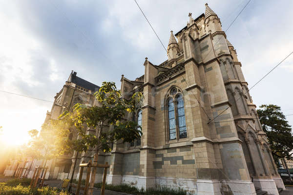 Catedral Suiza cielo sol Foto stock © benkrut