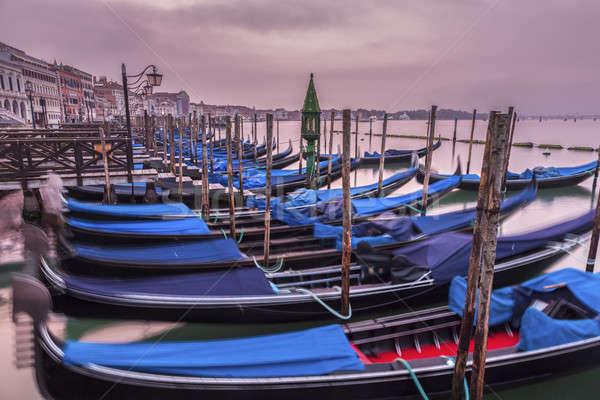 Amanecer agua mar iglesia viaje barco Foto stock © benkrut