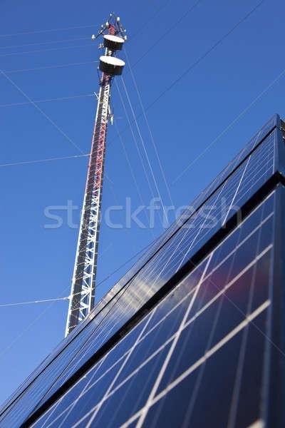 Sejt torony napelemek kék Stock fotó © benkrut