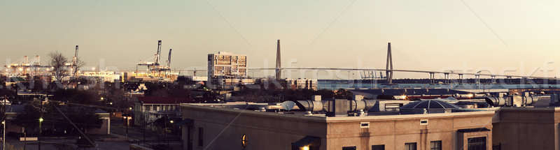 Early morning panorama of Charleston Stock photo © benkrut