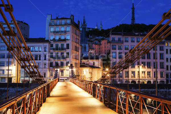 Gateway Courthouse footbridge in Lyon Stock photo © benkrut