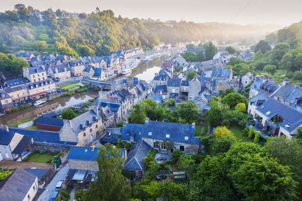Panorama of Dinan Stock photo © benkrut