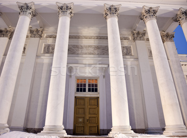 Columns and door of Lutheran Cathedral   Stock photo © benkrut