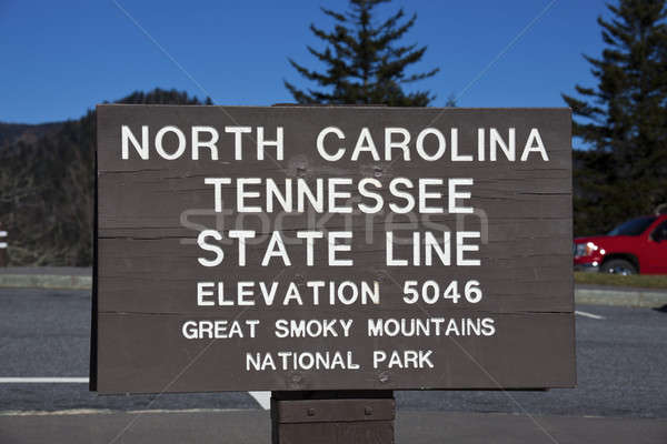 Tennessee - North Carolina state line Stock photo © benkrut