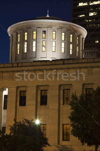 Ohio Bina gece mavi mimari Stok fotoğraf © benkrut