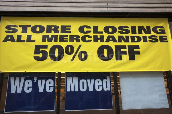 Store closing Stock photo © benkrut