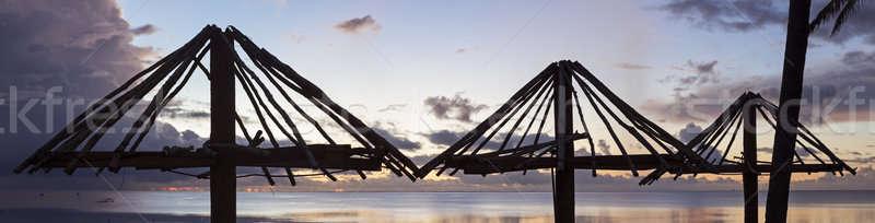 Plage coucher du soleil eau mer Photo stock © benkrut
