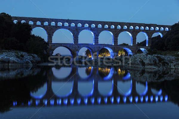 Notte città mondo blu viaggio Europa Foto d'archivio © benkrut