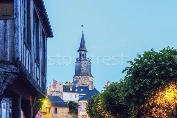 L'Horloge Tower in Dinan Stock photo © benkrut