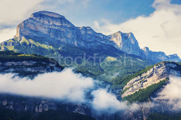 Chartreuse Mountains seen from Grenoble Stock photo © benkrut