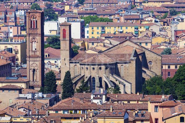 Architecture of Bologna - aerial photo Stock photo © benkrut