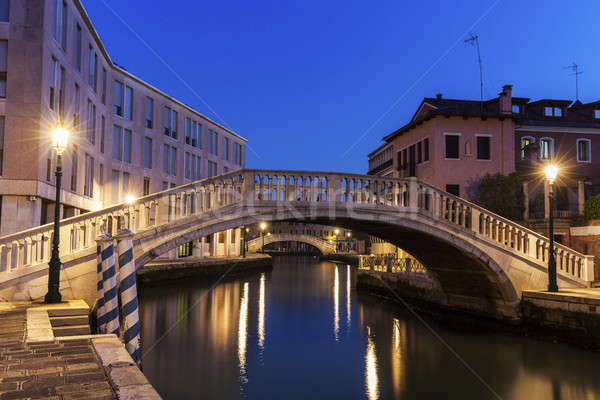 Venice bridges. Venice, Veneto, Italy Stock photo © benkrut