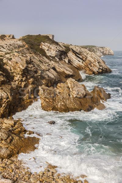 Playa agua naturaleza mar océano rock Foto stock © benkrut