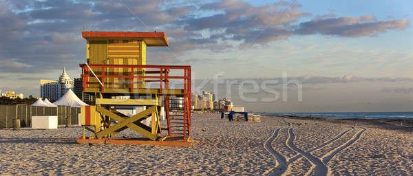 Miami spiaggia art deco stile vita guardia Foto d'archivio © benkrut