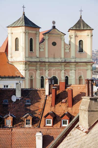 Trinity Church by Hurbanovo Square Stock photo © benkrut