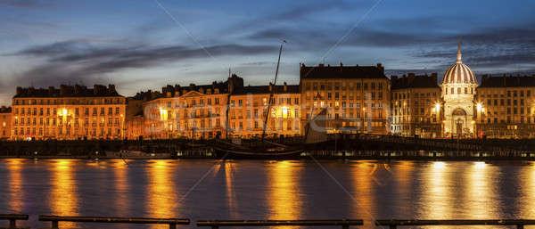 Nantes panorama across Loire River Stock photo © benkrut
