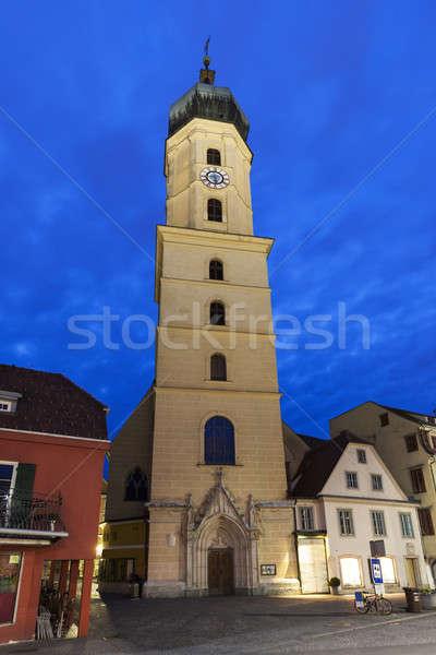Franziskanerkirche in Graz at dawn Stock photo © benkrut