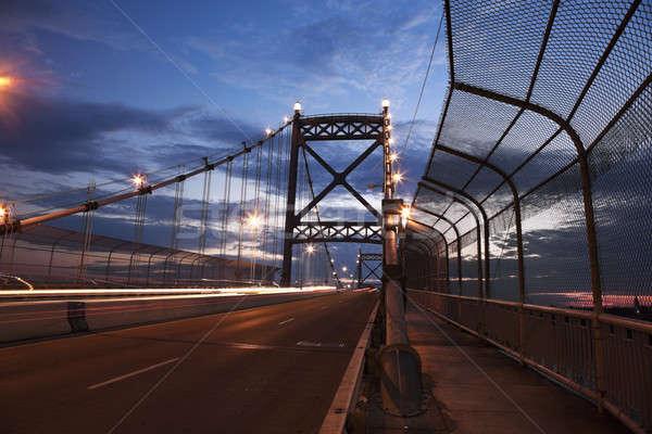 моста Огайо небе дороги закат облаке Сток-фото © benkrut