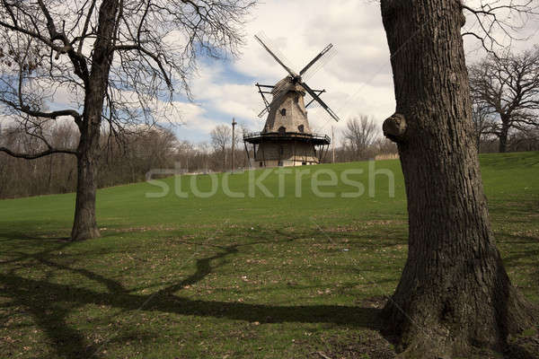 Geneva windmill Stock photo © benkrut