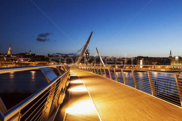 Peace Bridge in Derry Stock photo © benkrut