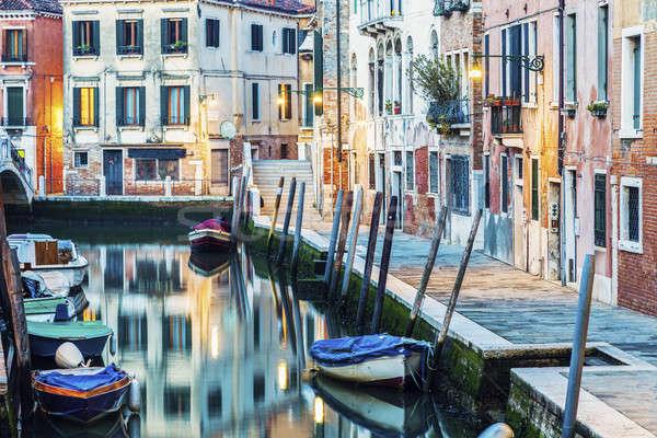 Colorful Venice at dawn Stock photo © benkrut