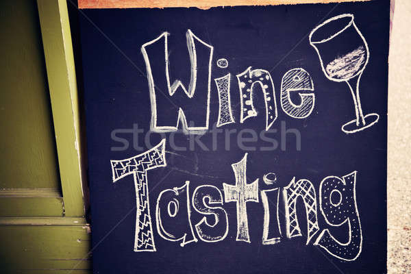 Wine tasting sign Stock photo © benkrut