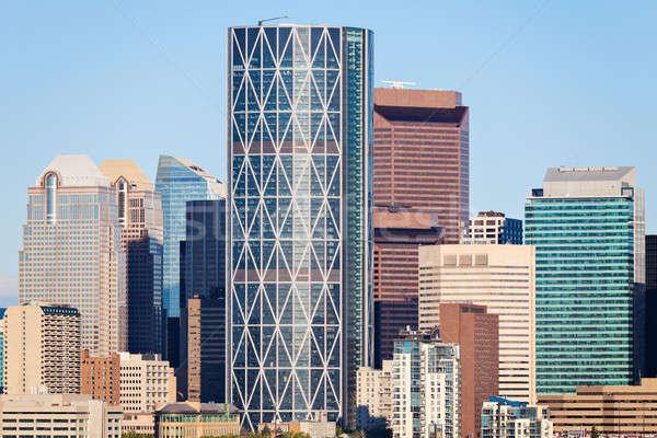 Panorama calgary reizen architectuur wolkenkrabber Stockfoto © benkrut