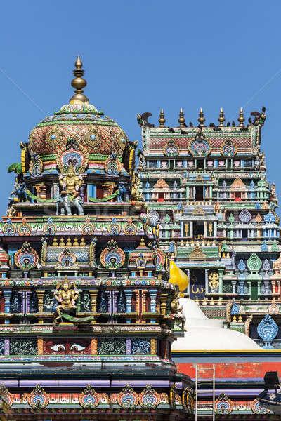 Tempio cielo chiesa blu viaggio religione Foto d'archivio © benkrut