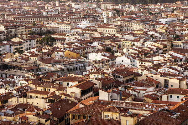Stockfoto: Florence · luchtfoto · Toscane · Italië · zonsondergang · kerk