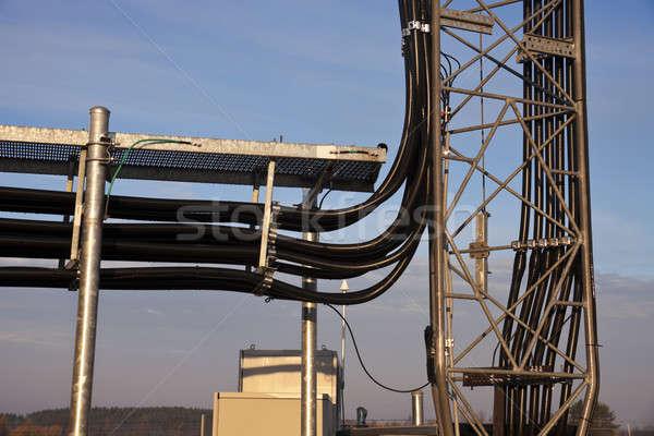 Coax cables under ice bridge Stock photo © benkrut