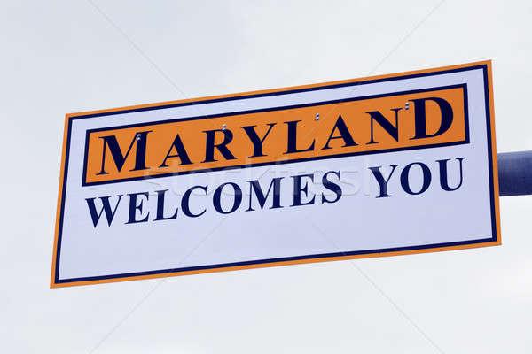 Maryland jelzőtábla égbolt felirat Stock fotó © benkrut