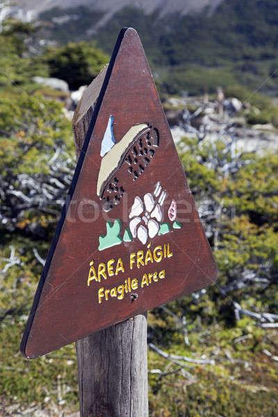Frágil signo naturaleza montana Foto stock © benkrut