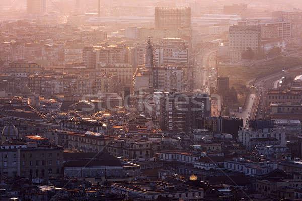 Foto d'archivio: Napoli · panorama · sunrise · città · viaggio · Europa