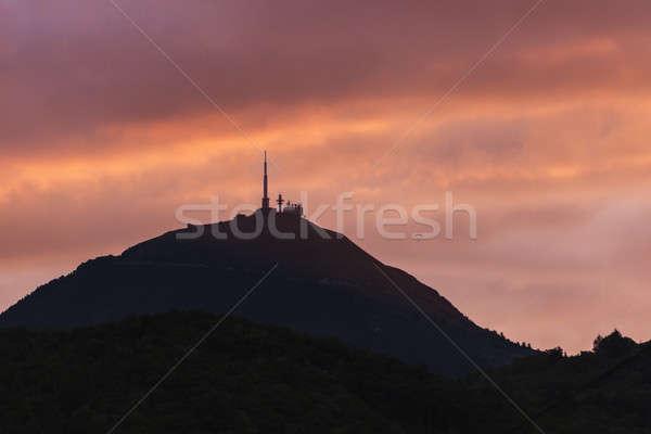 Сток-фото: вулкан · городского · Skyline · архитектура · Панорама · башни