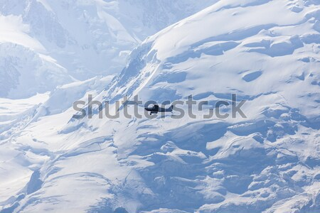 Small plane and Mt Blanc Stock photo © benkrut